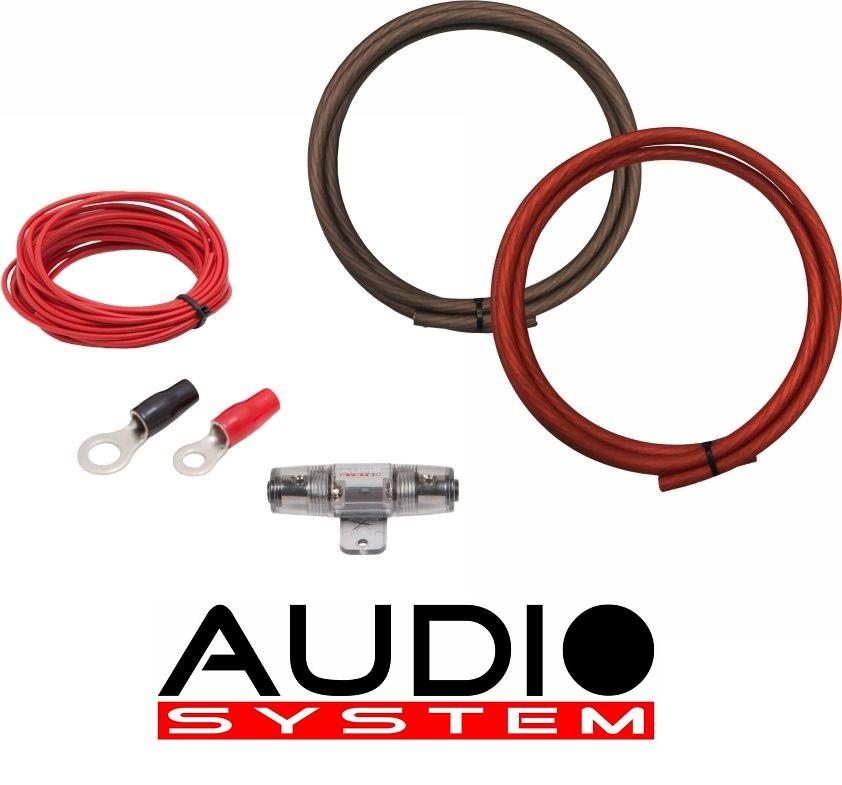 AUDIO SYSTEM Z-PCS 10-2 Kabelset Anschlußset für Verstärker 2 meter