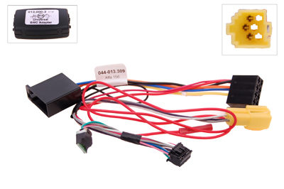 RTA 013.309-0 Steering wheel with steering wheel remote control adapters for vehicles without CAN bus controller