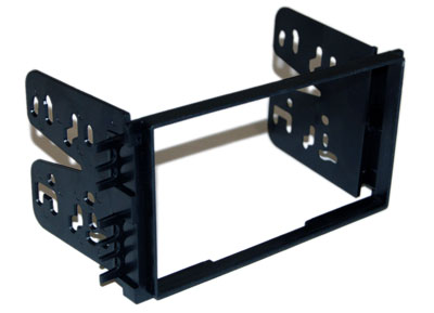 RTA 002.442-0 Double DIN mounting frame Black ABS frame