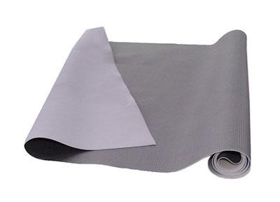 RTA 252.918-0 PVC artificial leather - carbon fiber structure - Color: silver - Bielastik