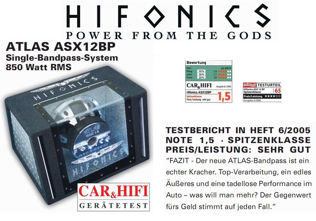 HIFONICS ASX12BP SINGLE BANDPASS 1700 Watt ASX-12BP
