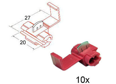 RTA 151.401-0 20mm x 27mm red wire tap