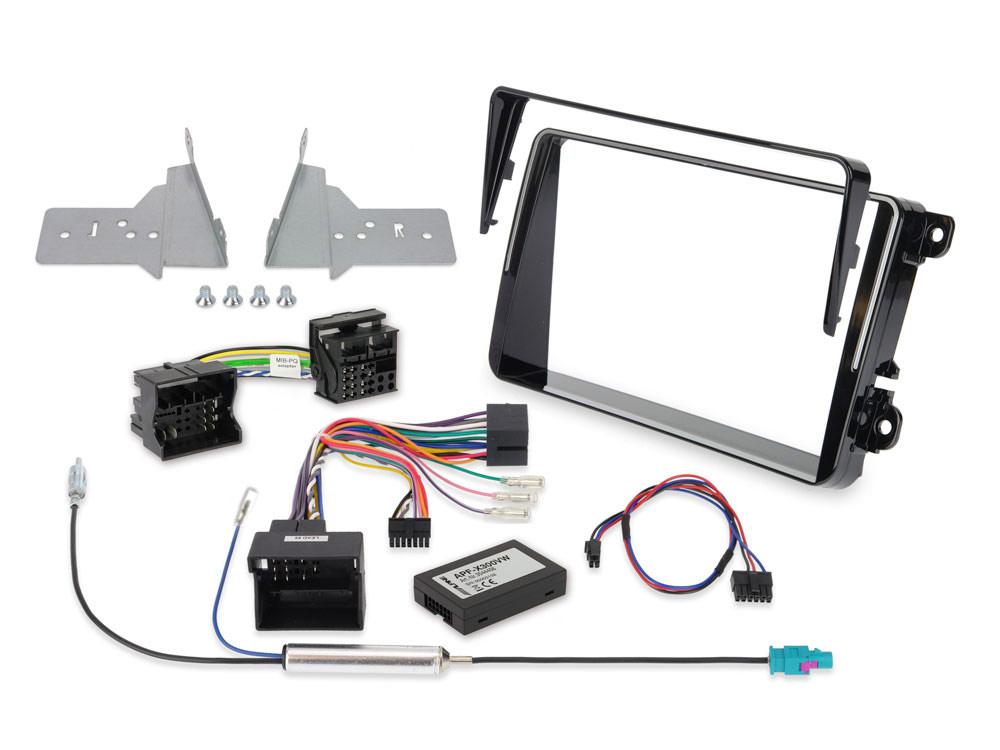 Alpine KIT-802T5 Einbauset für X802D-U VW T6 & T5 Facelift (7 H/E/J)) Installations-Set