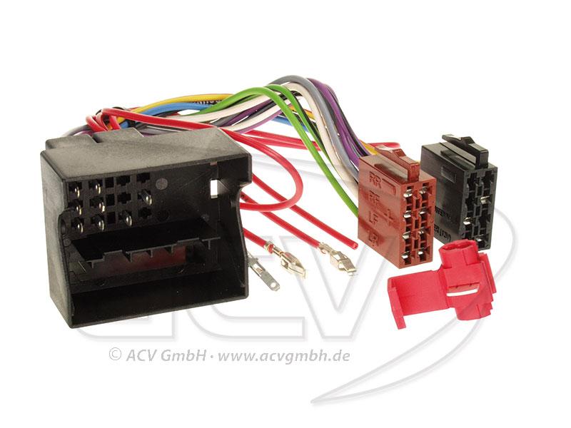 ACV 1324-02 Radio Adapter Cable Audi / Seat / Skoda / VW