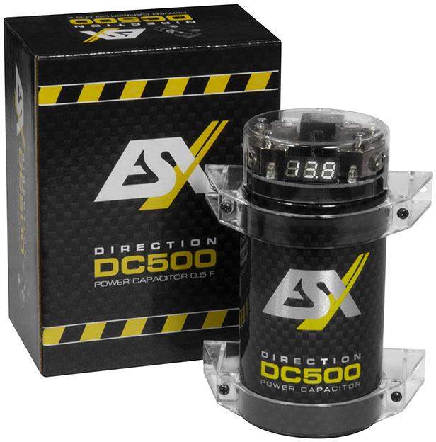 ESX DC500 DIRECTION Cap 0,5 Farad Pufferkondensator Powercap mit integriertem Verteilerblock