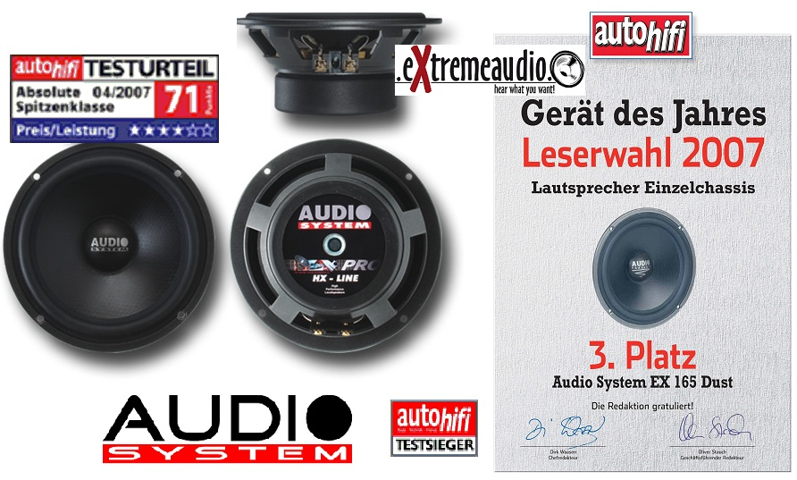 Audio System EX 165 DUST 165mm high end mid / bass