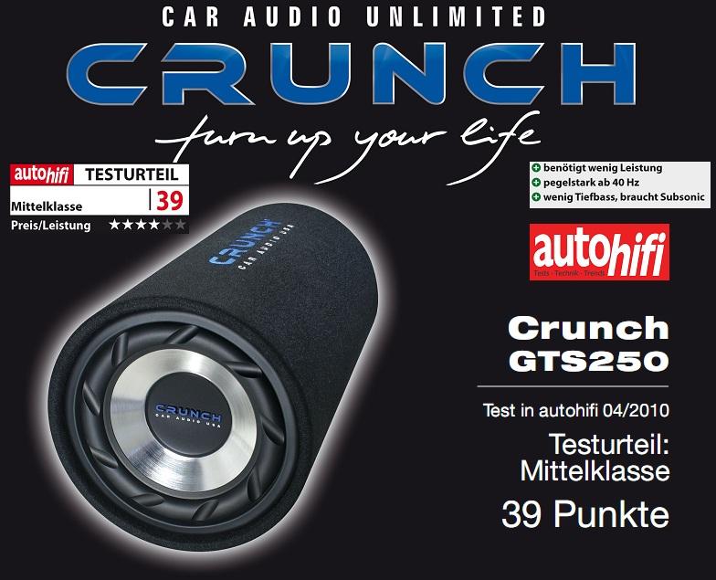 Crunch GTS-250 Crunch Tube-Subwoofer GTS250
