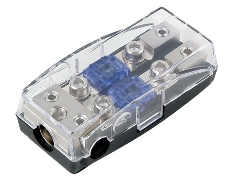 ACV 30.3804-02s Mini ANL Sicherungshalter (silber) 1 x 35 mm² + 2 x 20 mm²