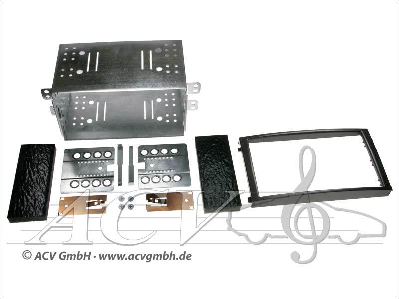 Doppel-DIN Einbaukit Rubber Touch SsangYong Rexton II