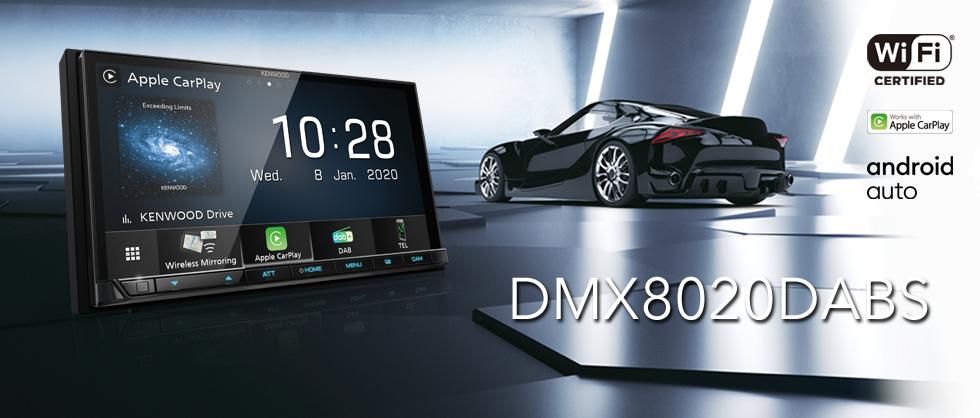 KENWOOD DMX-8020DABS 17,7 cm Digital Media AV-Receiver mit Wireless CarPlay, Android Auto, Bluetooth & DAB+ Radio