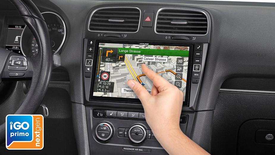Alpine X903D-G6 9-Zoll Premium-Infotainment-System für Volkswagen Golf 6 mit Navigationssystem, Apple CarPlay und Android Auto Unterstützung