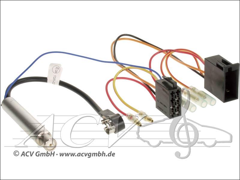 ACV 1321-45 Audi / Seat / Skoda / VW ISO avec alimentation fantôme