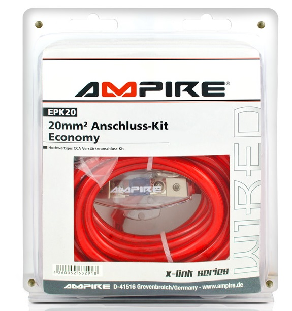 AMPIRE EPK20 Power-Kit 20mm² (Economy) Verstärker-Anschlußkabel-Set