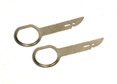 RTA 006.100-0 Removal keys for car radio with a horizontal release slot