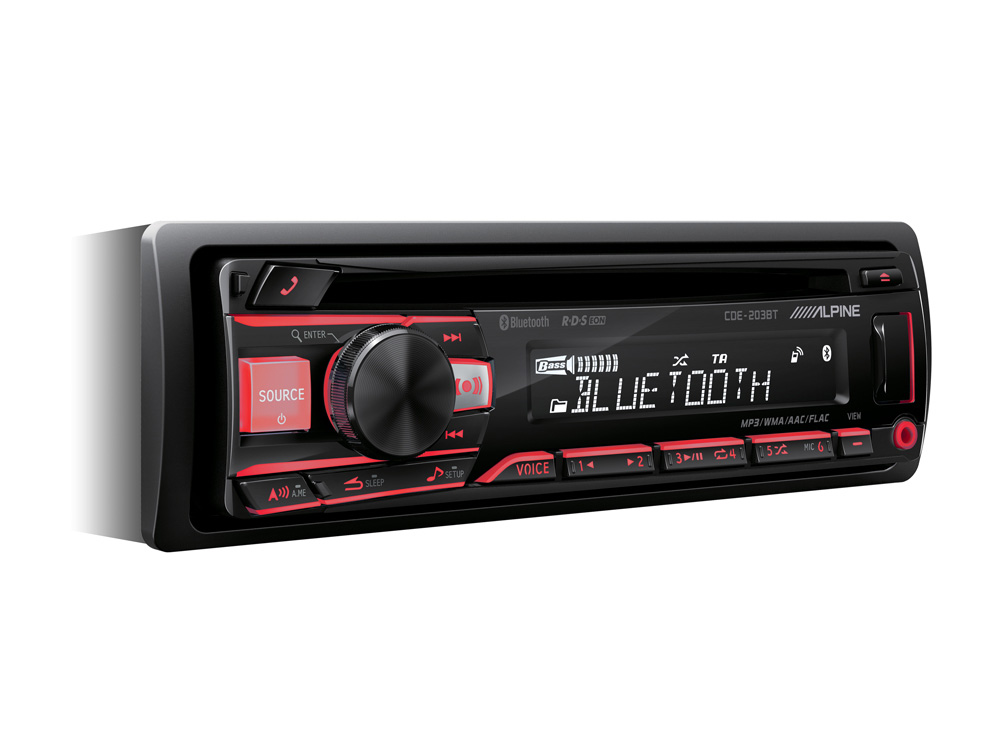 Alpine CDE-203BT CD/USB RECEIVER MIT BLUETOOTH Autoradio CD/MP3/AAC/WMA/FLAC/USB
