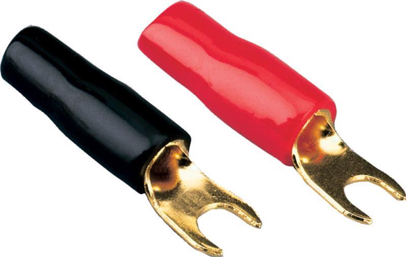 ACV 30.4440-03 Ringgabeln 4 mm² 50 Stück schwarz