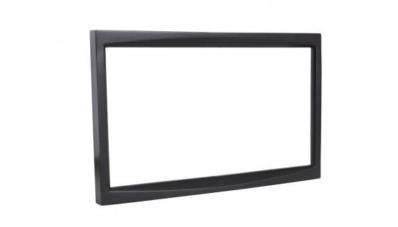 RTA 002.286-0 Double DIN mounting frame black ABS