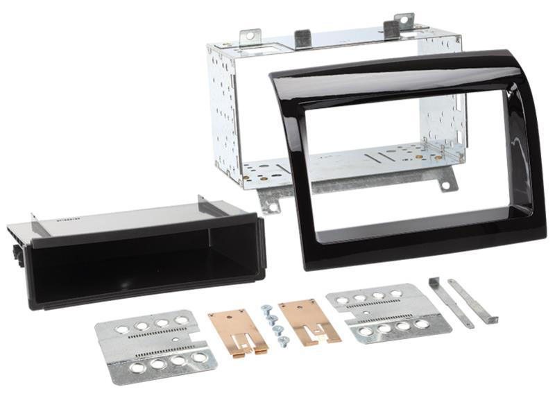 ACV 281094-27 2 - DIN plaque de planche de bord avec poche Fiat / Peugeot > noir piano