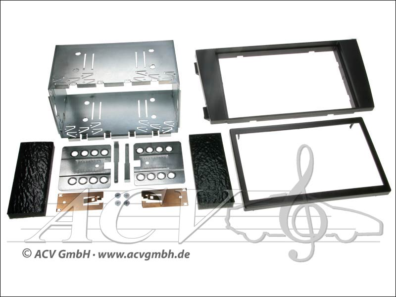 Double-DIN installation du kit Audi A6 (4B) 2001-2004