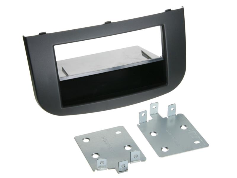 ACV 281200-08 2-DIN facia plate with pocket Mitsubishi Colt 2008 > black