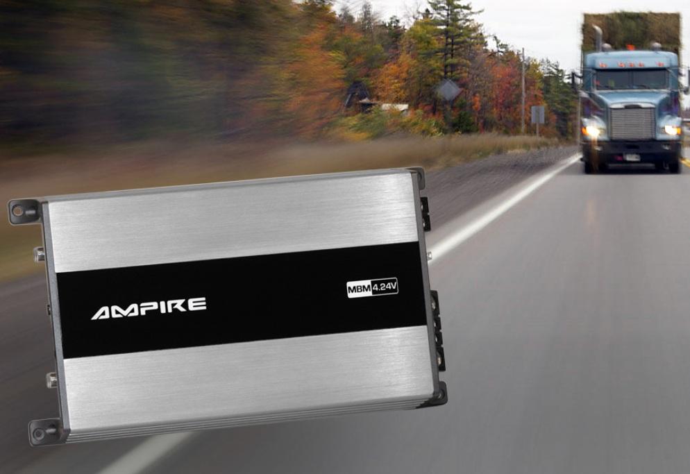 AMPIRE MBM4.24V amplifier, 4x 100 watts, Class D, 24-volt version