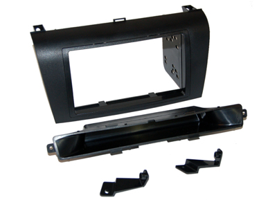 RTA 002.370-0 Double DIN mounting frame Black ABS, steel frame is not needed