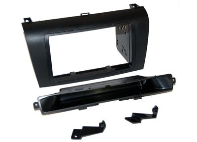 RTA 002.370-0 Double DIN Cadre de montage en ABS noir, cadre en acier n'est pas nécessaire