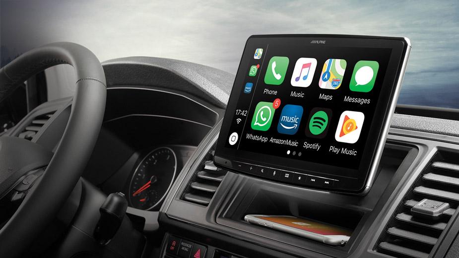 Alpine iLX-F903T6 Autoradio für VW T5 und T6 mit 9-Zoll-Touchscreen 1-DIN-Einbaugehäuse, DAB+, Apple CarPlay und Android Auto Unterstützung
