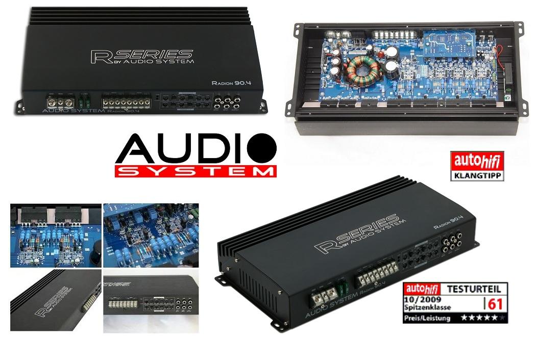Audio System Radion 90.4 4-Kanal Verstärker RADION90.4