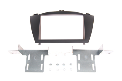 RTA 002.439-0 Double DIN mounting frame black ABS