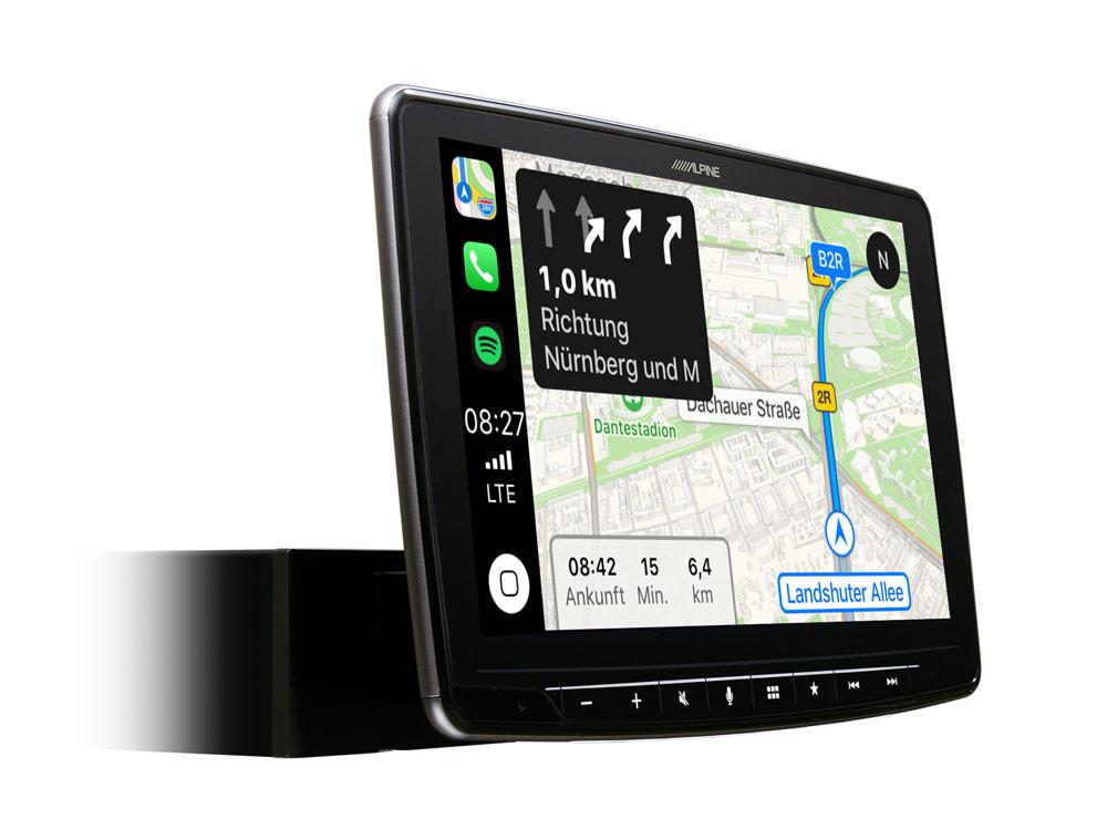 Alpine iLX-F903D Autoradio mit DAB+, 9-Zoll Display mit 1-DIN-Einbaugehäuse, Apple CarPlay und Android Auto Unterstützung