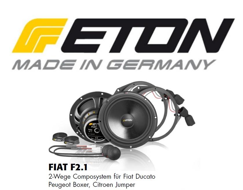 ETON FIAT-F22 Fiat Ducato 3, Peugeot Boxer 2, Citroën Jumper Lautsprecher Upgrade