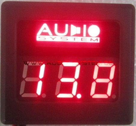 Audio System DVM12 Digitaler Voltmeter mit roter Beleuchtung