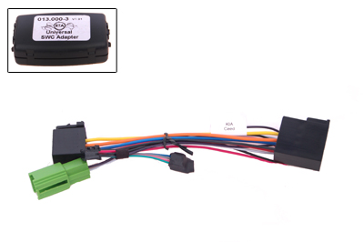RTA 013.401-0 Steering wheel with steering wheel remote control adapters for vehicles without CAN bus controller
