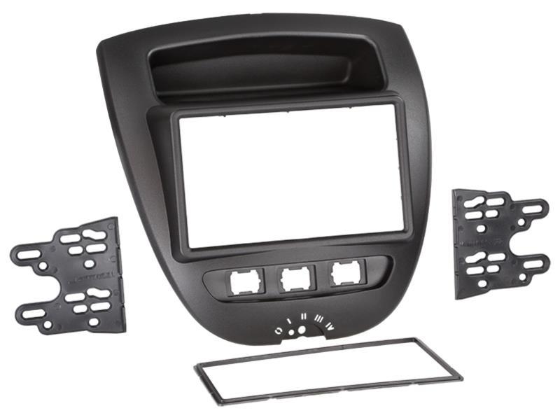 ACV 381300-27 2-DIN RB Toyota Aygo / Citroen C1 / Peugeot 107 05- > black