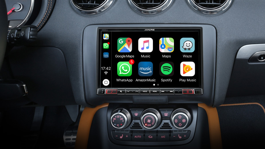 Alpine X803D-TT 8-Zoll-Navigationssystem für Audi TT (8J) mit DAB+, kapazitivem Display, Apple CarPlay und Android Auto Unterstützung