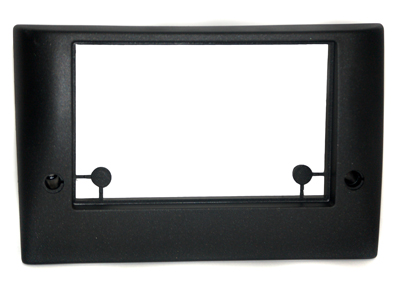 RTA 002.304-0 Double DIN mounting frame black ABS
