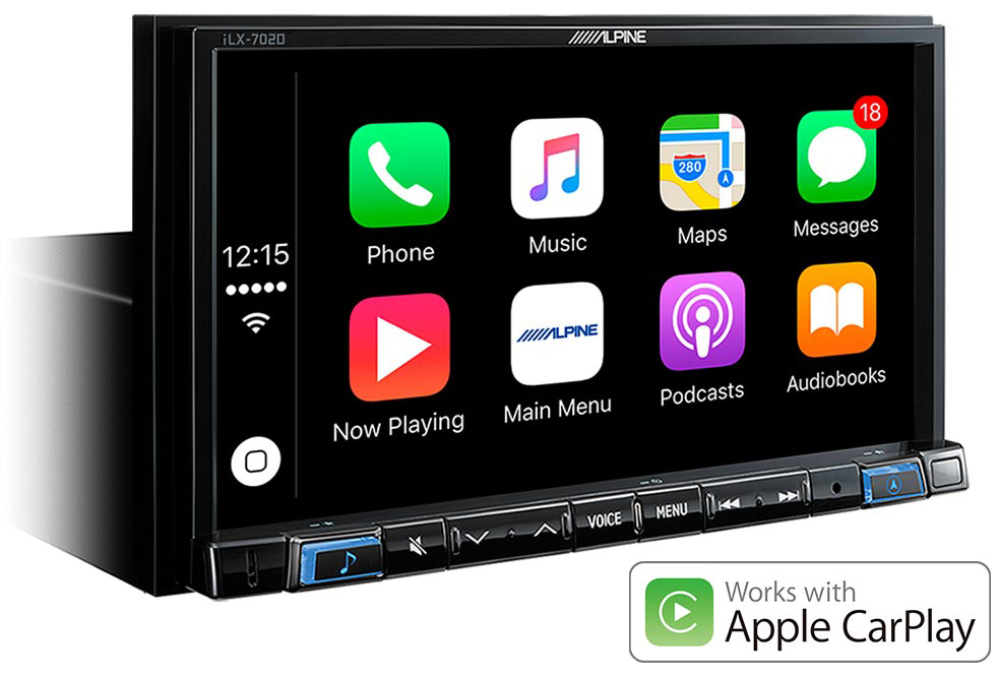 Alpine iLX-702DM DAB+ Autoradio 7-Zoll Display, Apple CarPlay und Android Auto, Digital Media Station