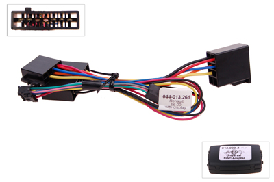 RTA 013.261-0 Steering wheel with steering wheel remote control adapters for vehicles without CAN bus controller