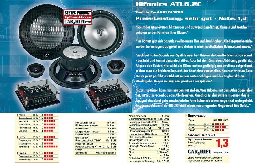 ATL-6.2C Hifonics ATLAS 2-way system ATL6.2 C