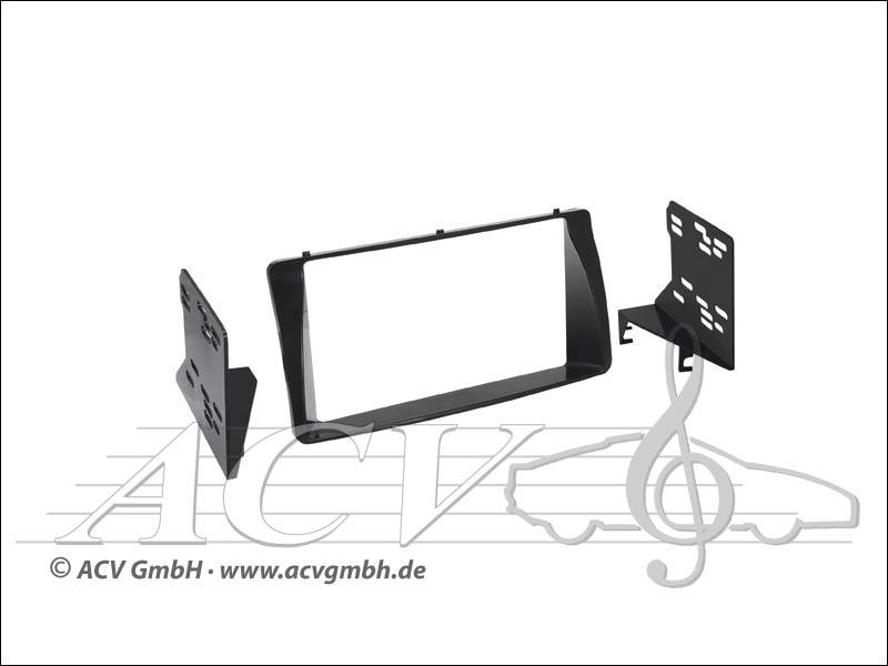 Double-DIN installation kit Rubber-Touch Toyota Corolla / Corolla / Verso