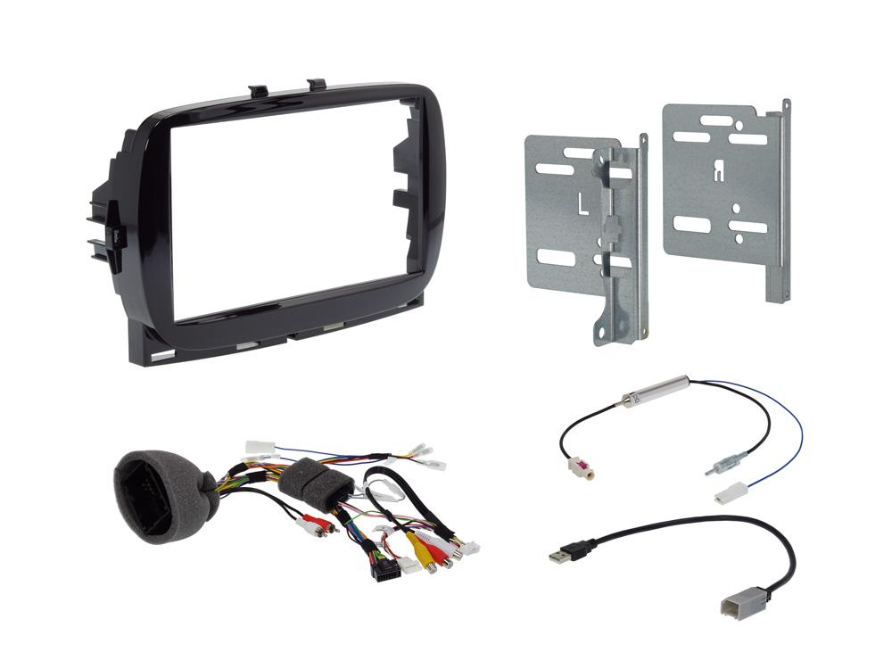 Alpine KIT-7FI-500FL 7-Zoll Einbauset für Fiat 500 / Abarth (312MCA) Installations-Set