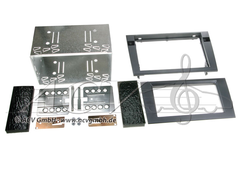 Doppel-DIN Einbaukit Rubber Touch Audi A4 (B6/B7) / Seat Exeo