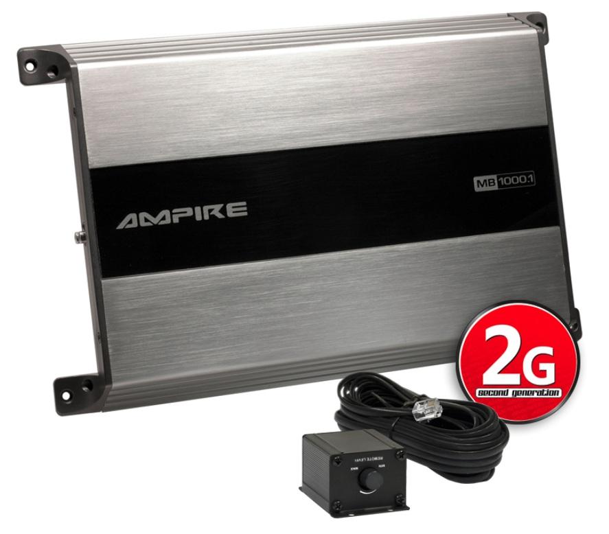 AMPIRE MB1000.1-2G ampli, 1x 1000 watts de classe D Monoblock (2e génération)