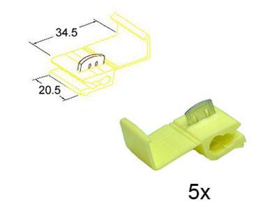 RTA 151.403-0 Wire tap yellow 20.5mm x 34.5mm