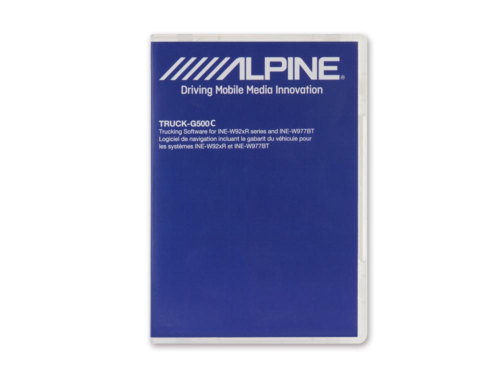 Alpine TRUCK-G500C Reisemobil, Caravan & LKW Software für INE-W977BT und INE-W92xR Geräteserie