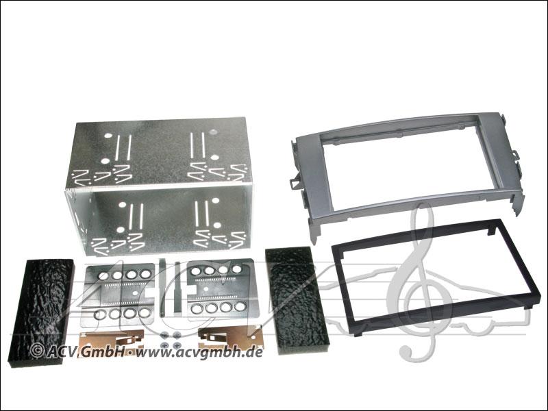 Double-DIN installation du kit Toyota Auris gris anthracite
