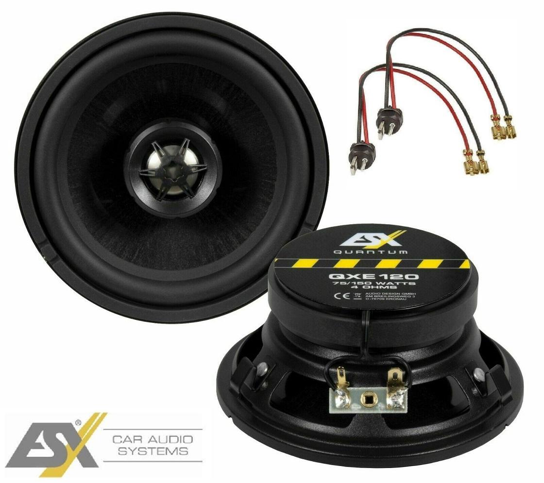 ESX QXE 120 Lautsprecher 120 mm passend für Mercedes Benz W124 E Klasse Limousine und Coupe Bj.1985 - 1995 Armaturenbrett