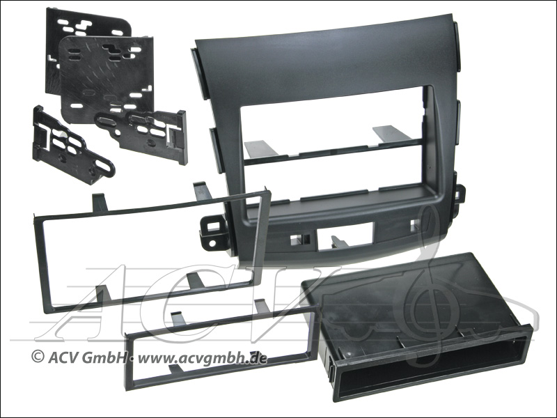 Double ISO Installation Kit for Mitsubishi Outlander