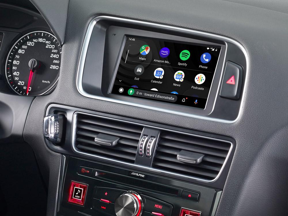 Alpine X703D-Q5 7-Zoll Premium-Infotainment-System für Audi Q5 mit Navigationssystem, Apple CarPlay und Android Auto Unterstützung